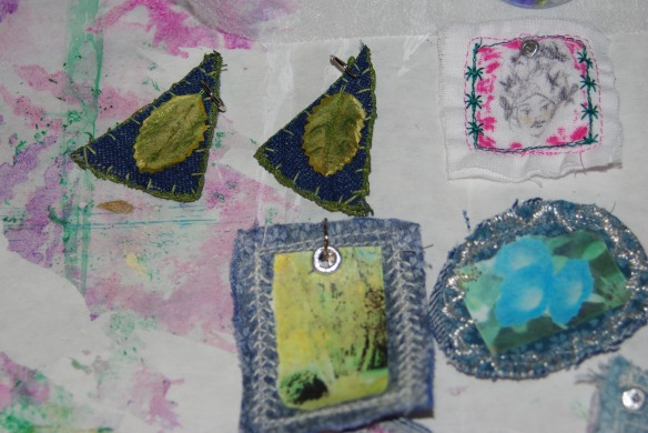 Various types of fabric jewelry