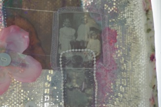 Lace backed collage of my German ancestors