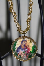 Bottle & stamp necklace