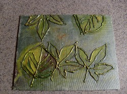 8x10 practice canvas board.