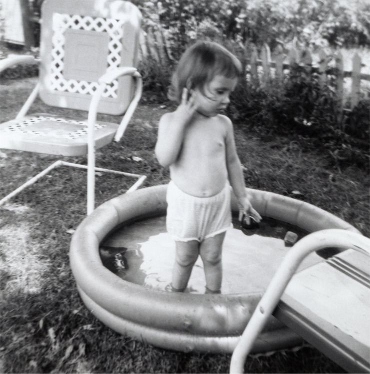 Swimming in my undies missing dad.