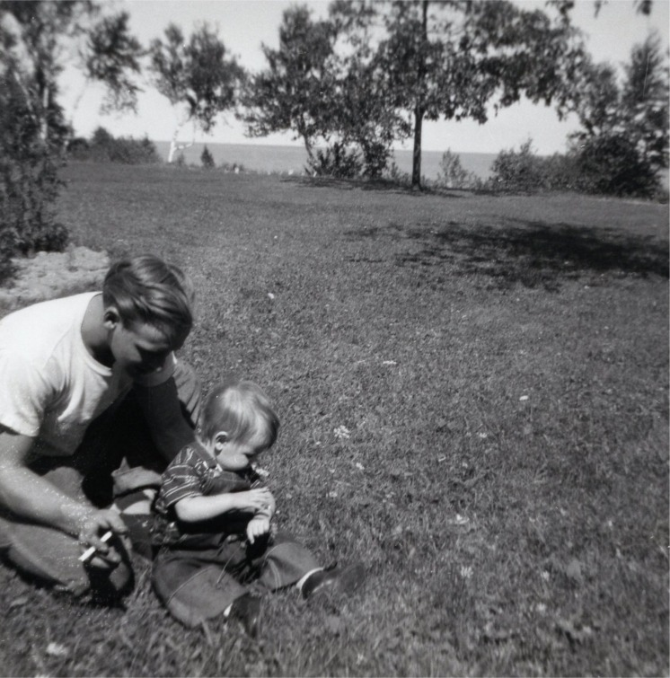 Dad and me at the cottage.