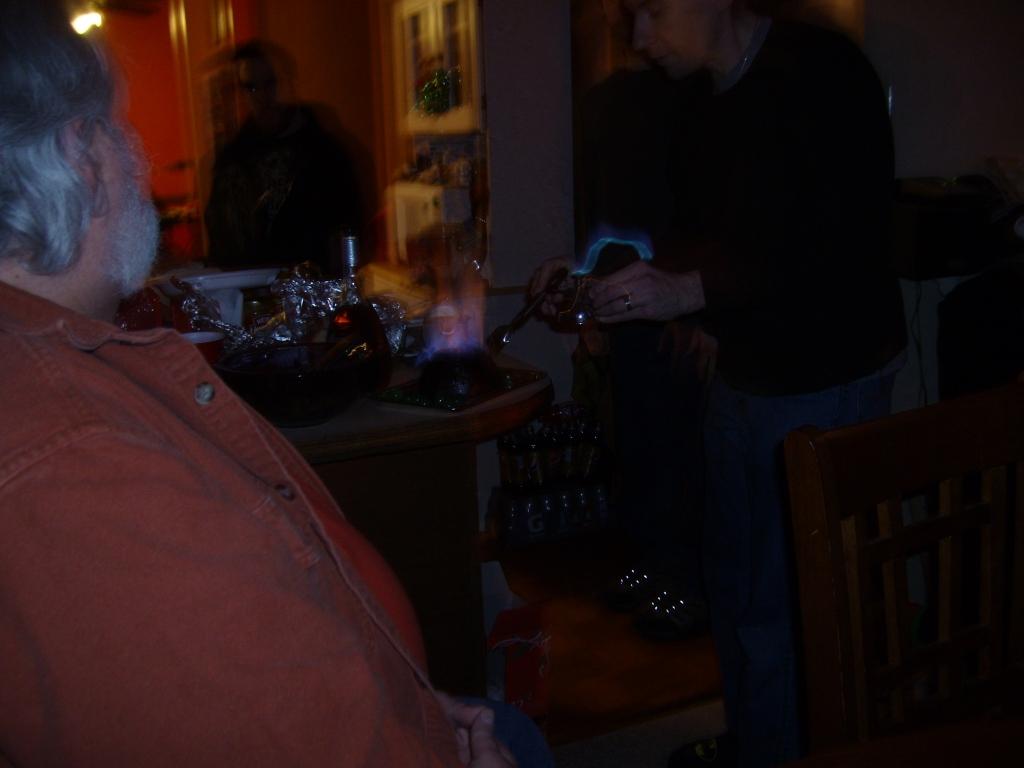 Lighting of the Plum Pudding!