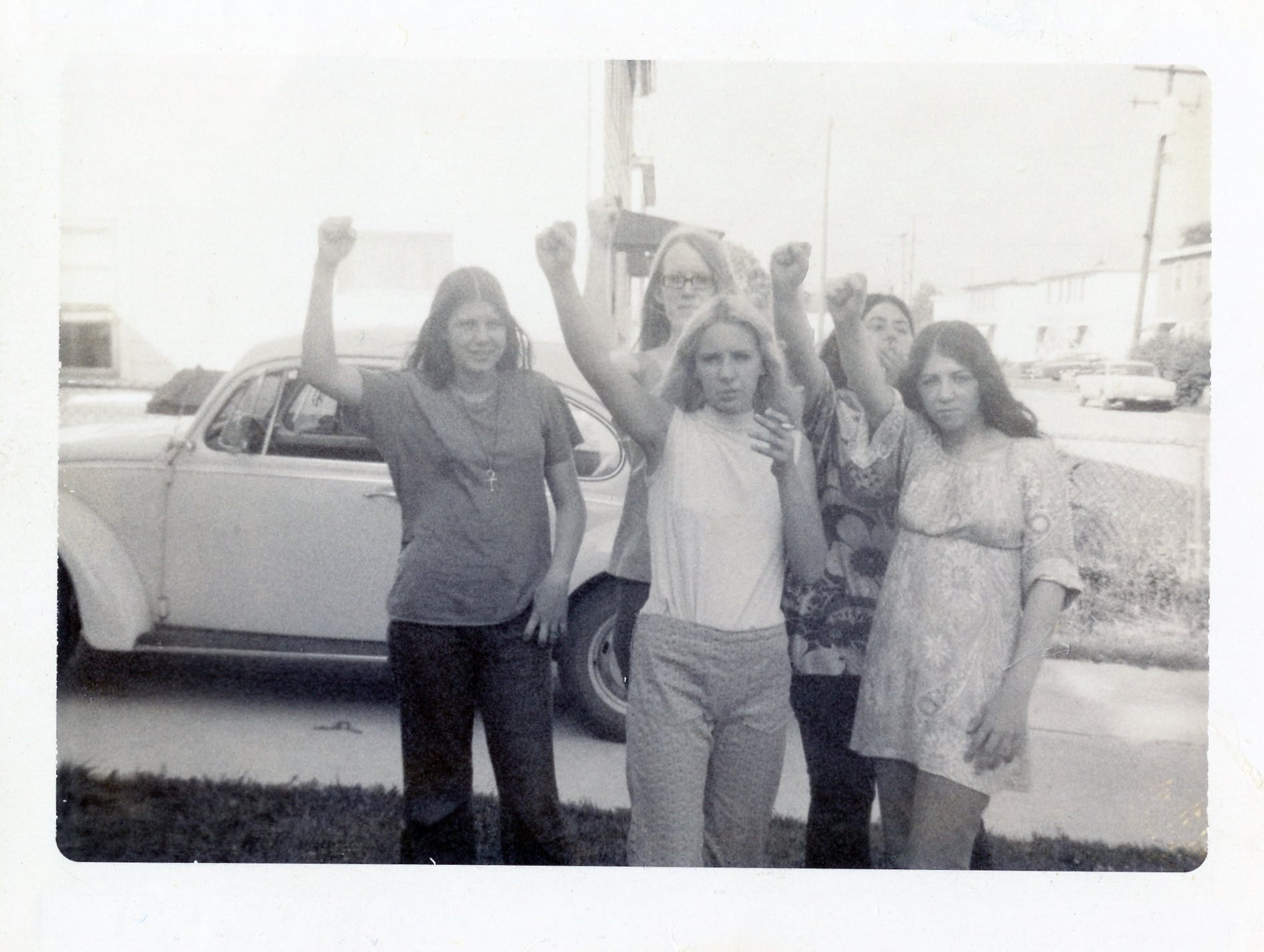 Polaroid of me and some of the gang late 1960's