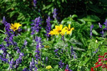 flowers paint dark 2