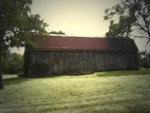 Antique effect to old barn.
